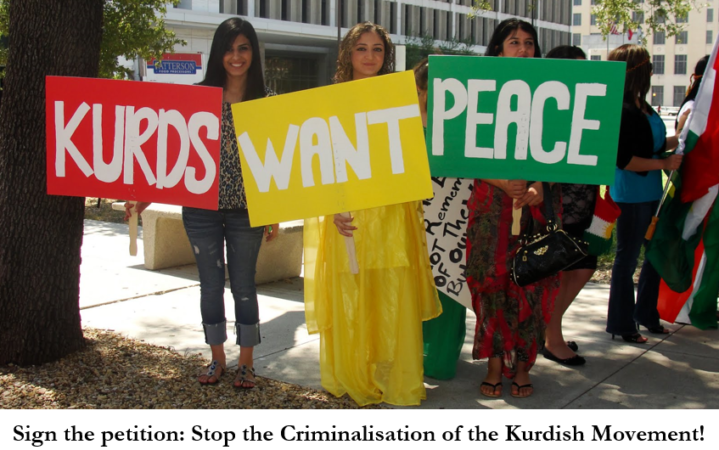 Stop the Criminalisation of the Kurdish Movement