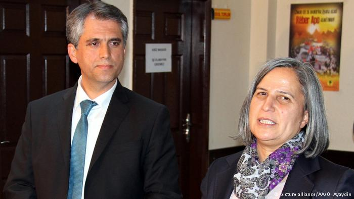 Co-Mayors of Diyarbakir, Gultan Kisanak and Firat Anli
