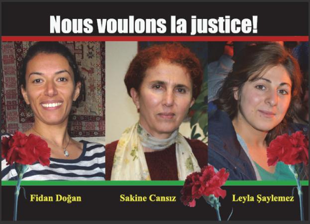 Sê kulîlkên azadîyê; Sara Sakîne, Rojbîn Fîdan, Leyla Ronahî û Terora Dewleta Tirk Li Paris ê