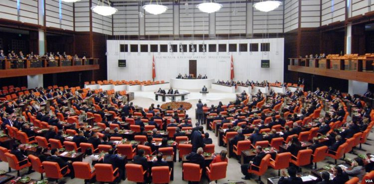 Grand National Assembly of Turkey MPs in June 2015 Photo: wiki