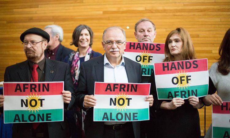 Honderd Europarlementsleden roepen op om Turkse aanval op Afrin te stoppen!