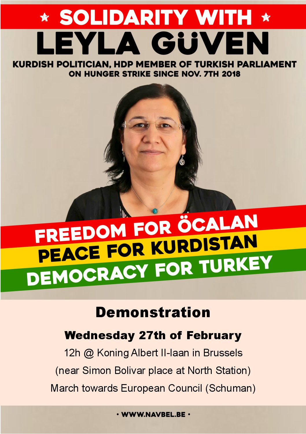 27/02/2019 Solidariteitsactie voor Leyla Güven