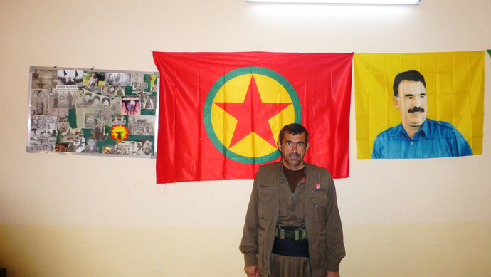 Local PKK-commander Agid Kalar. Photo James Harkin.