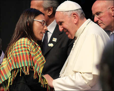 The KCK representative saluted Pope Francis for inviting the KCK to the 1st Meeting held last year. Photo: ANF