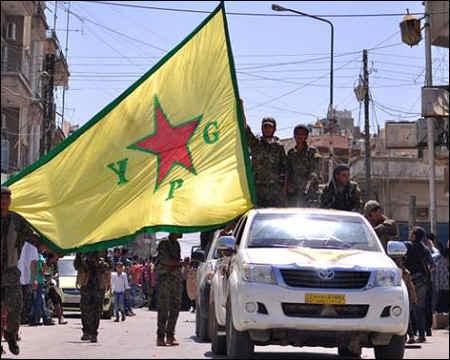 Kurdish YPG fighters in Qamishlo, 2015 Rojava - Syrian Kurdistan. Photo: AFP