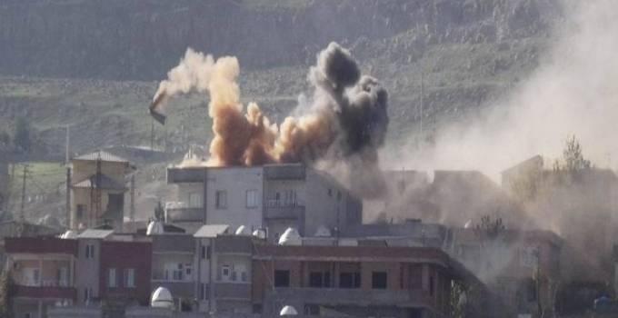 Beeldmateriaal van de bombardementen op Cizre, december 2015 (bron: RT)