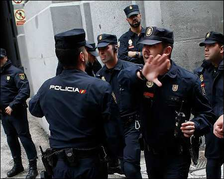 Spanish police. photo: Reuters