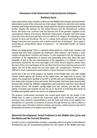 The Federal Democratic System of the of Rojava (Official Statement, Marc...