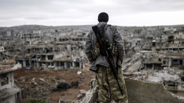 The sniper of Kobani (Reber Dosky)
