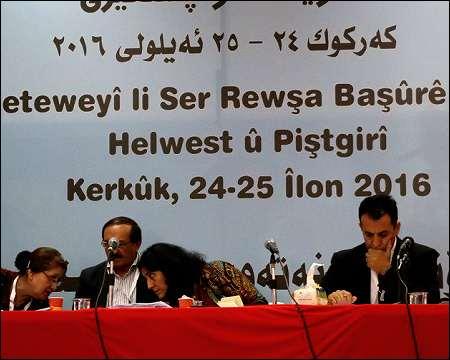 Southern Kurdistan Workshop' Kurdistan National Congress (KNK) held in Kirkuk on September 23-24, 2016. Photo: ANF