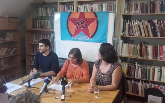 Bilen Ceyran tijdens een persconferentie (5/09/2016)