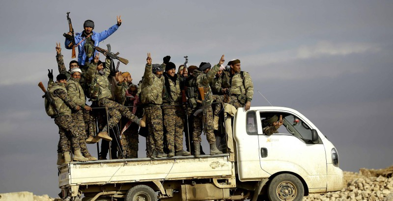 Fighters from the Kurdish-Arab alliance in Raqqa, Dec. 11, 2016. Photo: Agence France-Presse/Getty Images