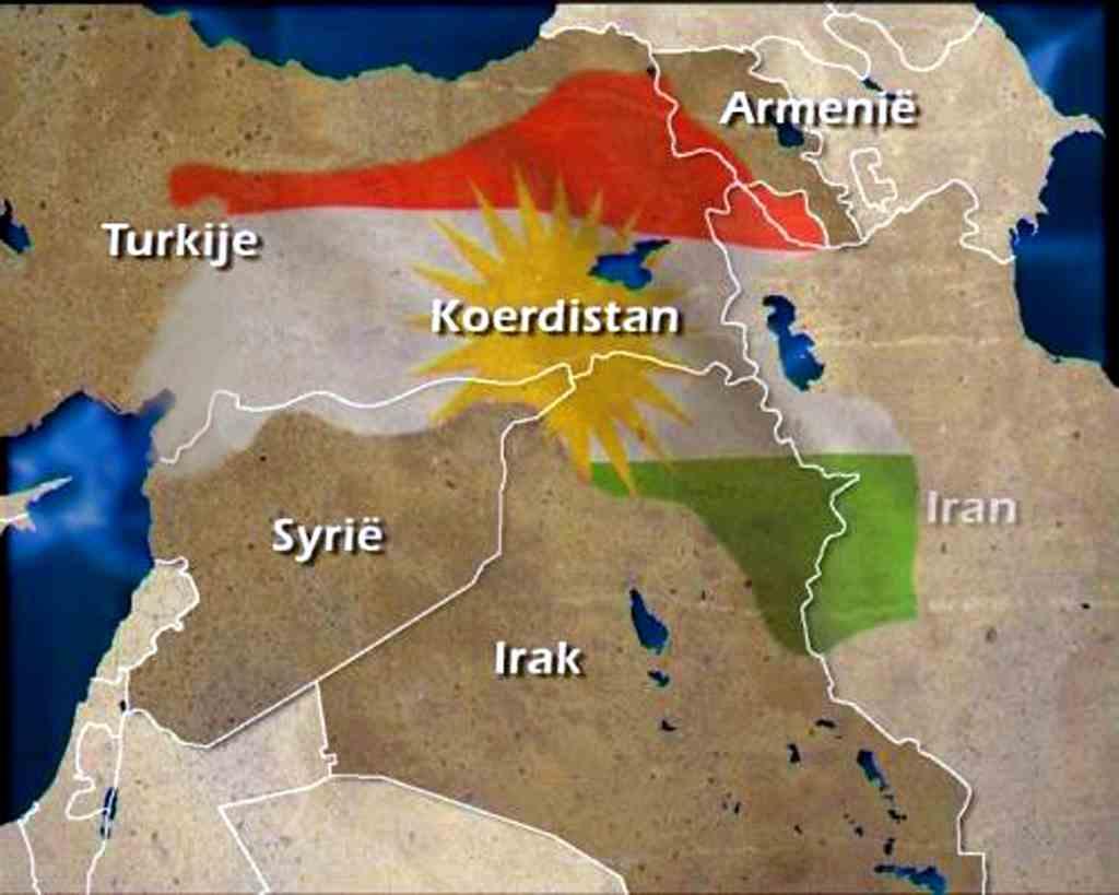 Kaart Koerdistan