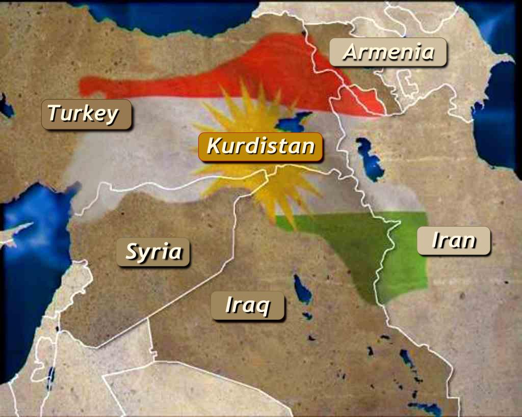 Map Kurdistan