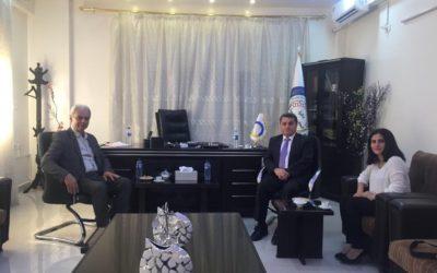 Het Koerdisch Instituut regelt een samenwerking tussen de Belgische delegatie en Koerdische autoriteiten in Noordoost Syrië
