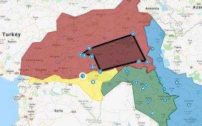 Het 'Washington Kurdish Institute' volgt nauwgezet de ontwikkelingen in Noord-Syrië en bericht daarover op een accurate en grafische manier