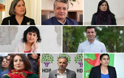 Oproep tot solidariteitsacties met de HDP-politici die worden berecht op het Kobani-proces