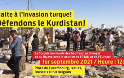 """""""Halte à l'invasion turque!"""" — 1 Septembre 2021 (12h) — Place de Luxembourg à BXL"""